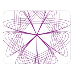 Purple Spirograph Pattern Circle Geometric Double Sided Flano Blanket (large)
