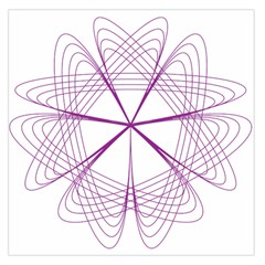 Purple Spirograph Pattern Circle Geometric Large Satin Scarf (Square)
