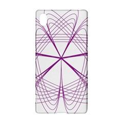Purple Spirograph Pattern Circle Geometric Sony Xperia Z3+