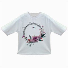 Flowers Twig Corolla Wreath Lease Infant/Toddler T-Shirts
