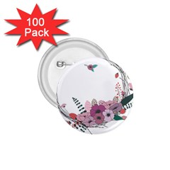 Flowers Twig Corolla Wreath Lease 1 75  Buttons (100 Pack)