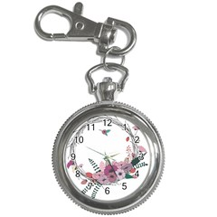 Flowers Twig Corolla Wreath Lease Key Chain Watches