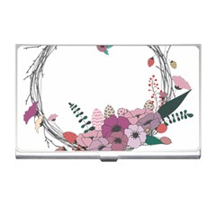 Flowers Twig Corolla Wreath Lease Business Card Holders
