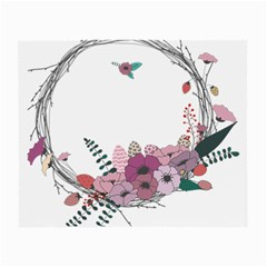 Flowers Twig Corolla Wreath Lease Small Glasses Cloth (2-Side)