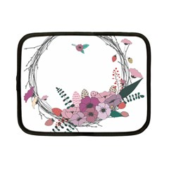 Flowers Twig Corolla Wreath Lease Netbook Case (Small)