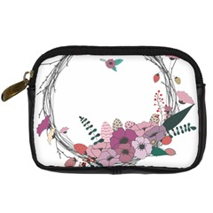 Flowers Twig Corolla Wreath Lease Digital Camera Cases
