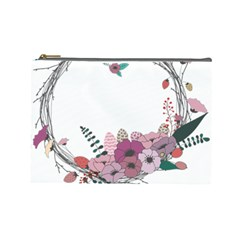 Flowers Twig Corolla Wreath Lease Cosmetic Bag (Large)
