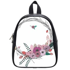 Flowers Twig Corolla Wreath Lease School Bags (small)