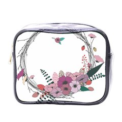 Flowers Twig Corolla Wreath Lease Mini Toiletries Bags
