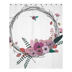 Flowers Twig Corolla Wreath Lease Shower Curtain 60  x 72  (Medium)