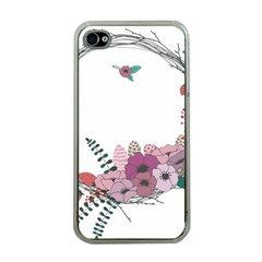 Flowers Twig Corolla Wreath Lease Apple Iphone 4 Case (clear)