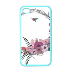 Flowers Twig Corolla Wreath Lease Apple Iphone 4 Case (color)