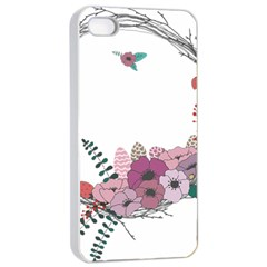Flowers Twig Corolla Wreath Lease Apple Iphone 4/4s Seamless Case (white)
