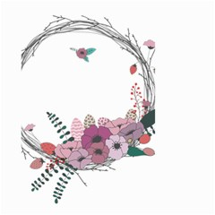 Flowers Twig Corolla Wreath Lease Small Garden Flag (two Sides)