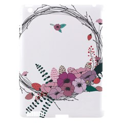 Flowers Twig Corolla Wreath Lease Apple Ipad 3/4 Hardshell Case (compatible With Smart Cover)