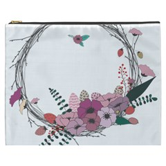 Flowers Twig Corolla Wreath Lease Cosmetic Bag (XXXL)