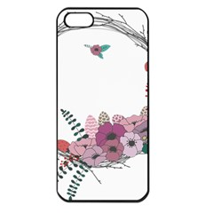 Flowers Twig Corolla Wreath Lease Apple Iphone 5 Seamless Case (black)