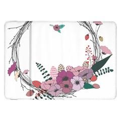 Flowers Twig Corolla Wreath Lease Samsung Galaxy Tab 8 9  P7300 Flip Case