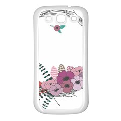 Flowers Twig Corolla Wreath Lease Samsung Galaxy S3 Back Case (white)