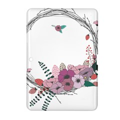 Flowers Twig Corolla Wreath Lease Samsung Galaxy Tab 2 (10 1 ) P5100 Hardshell Case