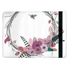 Flowers Twig Corolla Wreath Lease Samsung Galaxy Tab Pro 12 2  Flip Case