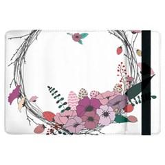 Flowers Twig Corolla Wreath Lease iPad Air Flip