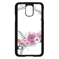 Flowers Twig Corolla Wreath Lease Samsung Galaxy S5 Case (black)