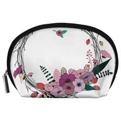 Flowers Twig Corolla Wreath Lease Accessory Pouches (large)
