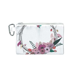 Flowers Twig Corolla Wreath Lease Canvas Cosmetic Bag (S)