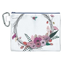 Flowers Twig Corolla Wreath Lease Canvas Cosmetic Bag (xxl)