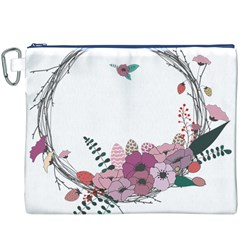 Flowers Twig Corolla Wreath Lease Canvas Cosmetic Bag (xxxl)