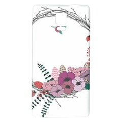 Flowers Twig Corolla Wreath Lease Galaxy Note 4 Back Case