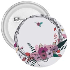 Flowers Twig Corolla Wreath Lease 3  Buttons