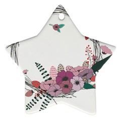 Flowers Twig Corolla Wreath Lease Ornament (star)