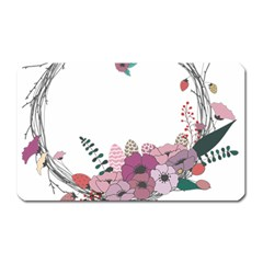 Flowers Twig Corolla Wreath Lease Magnet (rectangular)