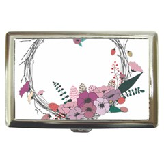 Flowers Twig Corolla Wreath Lease Cigarette Money Cases