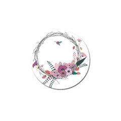 Flowers Twig Corolla Wreath Lease Golf Ball Marker (4 Pack)