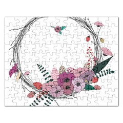 Flowers Twig Corolla Wreath Lease Rectangular Jigsaw Puzzl