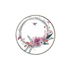 Flowers Twig Corolla Wreath Lease Hat Clip Ball Marker