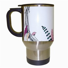 Flowers Twig Corolla Wreath Lease Travel Mugs (white)