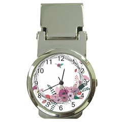 Flowers Twig Corolla Wreath Lease Money Clip Watches