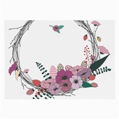 Flowers Twig Corolla Wreath Lease Large Glasses Cloth (2-Side)