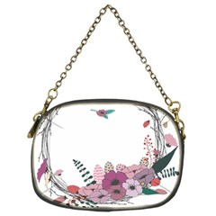 Flowers Twig Corolla Wreath Lease Chain Purses (two Sides)