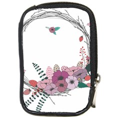 Flowers Twig Corolla Wreath Lease Compact Camera Cases