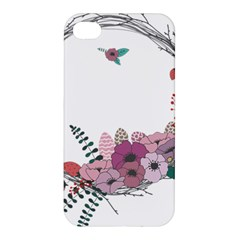 Flowers Twig Corolla Wreath Lease Apple Iphone 4/4s Hardshell Case