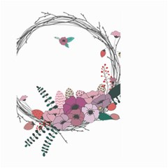 Flowers Twig Corolla Wreath Lease Large Garden Flag (two Sides)