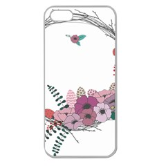 Flowers Twig Corolla Wreath Lease Apple Seamless Iphone 5 Case (clear)