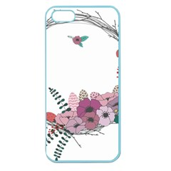 Flowers Twig Corolla Wreath Lease Apple Seamless Iphone 5 Case (color)