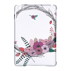 Flowers Twig Corolla Wreath Lease Apple Ipad Mini Hardshell Case (compatible With Smart Cover)