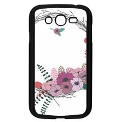 Flowers Twig Corolla Wreath Lease Samsung Galaxy Grand Duos I9082 Case (black)